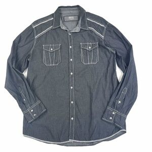 BKE Buckle Contrast Stitch Shirt Sz XL